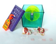 Vintage Littlest Pet Shop BUSY HAMSTER with CONFETTI -