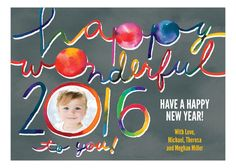 Happy Wonderful Photo Card #newyearsresolutions