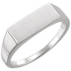 Sterling silver mens rectangle signet ring  $73