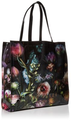 Ted Baker Schocon Floral Large Icon Tote Bag, Mid Grey, One Size