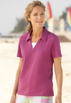 Surfwashed Short-sleeved Polo, Magenta, Small Orvis. $19.00