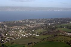 Holywood, Northern Ireland  Aerial view of Braeside Country House
