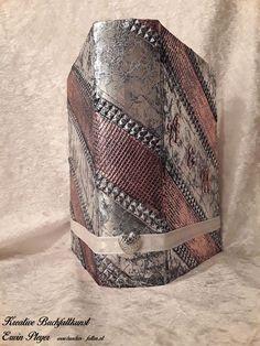 Buchcover für Hochzeitsbuch in Aluminiumdesign Design, Bags, Home Decor, Handarbeit, Creative, Handbags, Homemade Home Decor, Dime Bags, Lv Bags