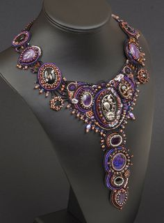 Galaxy A Bead Embroidered Collar Necklace by NEDbeads on Etsy, $900.00
