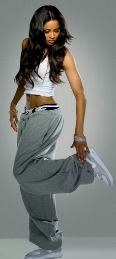 Singer Ciara tomboy fashions.