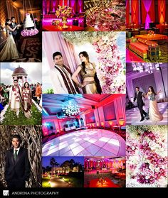 This Indian wedding took place at Pelican Hill and the Ritz-Carlton Laguna Niguel, I loved the pink dance floor used for the sangeet and the light-up disco dance floor used at the reception.