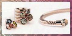 Melano ring twisted,  met verwisselbare steentjes...Creeer je eigen unieke ring !
