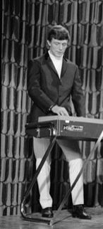 Mike Smith playing his Vox Continental Organ