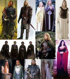 The lovely costumes of those in the LOTR movies