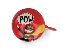 {Dring Bike Bell Super Hero} Kikkerland - my bike would love this POW bell! This ones for you Gayle Gallagher ! Kids Stockings, Kids Bicycle, Bicycle Bell, Stocking Stuffers For Kids, Kids Ride On, Creative Kids, Super Powers, Kids Toys, Cool Things To Buy