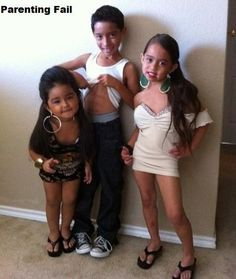 Parenting FAIL!  Who would let there kids watch Jersey Shore, much less dress up as the Jersey Whores themselves!  LOL