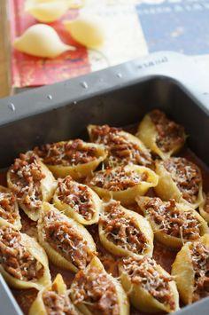 The Cook Time: Conchiglionis farcis au veau, sauce tomate et parmesan