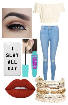 """When you slay/"" by rosadoalexis on Polyvore featuring Lime Crime, New Look, Panacea and Otis Jaxon"