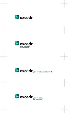 Case Study: Excedr Logo & Brand Identity Designed by The Logo Smith Brand Identity Design, Logo Design, Logo Branding, Logos, Brand Guidelines, Core Values, Visual Identity, Case Study, Lettering