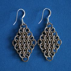 Handcrafted Stainless Steel Chain Maille Earrings | JulieKindtStudio - Jewelry on ArtFire