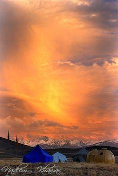 Sunset At Deosai National Park. Northeren Pakistan.