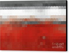 Abstract Canvas Print featuring the painting Tile Art 1 2016. Modern Mosaic Tile Art Painting by Mark Lawrence