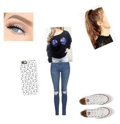 """""""Idk"""" by miarivera145 ❤ liked on Polyvore featuring Topshop, Converse, ASOS and Casetify"""