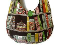 Sling Purse books hobo bag slouch shoulder by OffBeatBetty on Etsy, $34.00