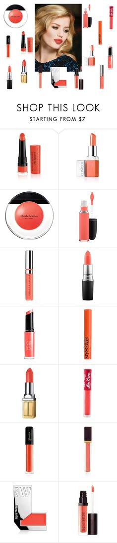 """Fresh coral lips"" by tyronewelle ❤ liked on Polyvore featuring beauty, Rimmel, Clinique, Elizabeth Arden, MAC Cosmetics, Chantecaille, Revlon, NYX, Lime Crime and Guerlain"