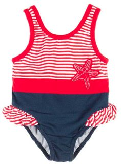 14327bdd5 Baby and infant girls will head to the seashore in style in this starfish  themed pieced