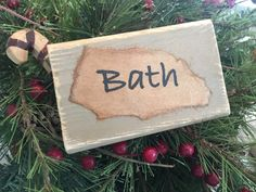 Bath  $15 Check out our $20 and under Farmhouse collection!!! Free shipping on all of our signs!  #20 #rustic #cute #diy #farmhouse #signs #custommade #new #popular #love #stain #perfect #homedecor #livingroomideas #kitchendesign