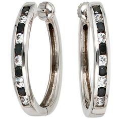Damen-Creole 20 Diamant-Brillanten 14 Karat (585) Weißgold 0.86 ct. Dreambase, http://www.amazon.de/dp/B00EYGWCWA/ref=cm_sw_r_pi_dp_DOljtb08AC8ZX