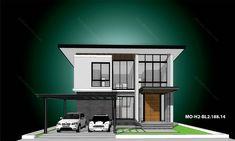 รหัสแบบ: MO-H2-BL2.188.14 บ้านสไตล์: แบบบ้านสองชั้น Modern    สเปคแบบขนาดพื้นที่ จำนวน: 2 ชั้นพื้นที่ใช้สอย: 188 ตารางเมตร ห้องนอน: 2 ห้องขนาดที่ดิน: 52 ตารางวา ห้องน้ำ: 3 ห้องที่ดินกว้าง: 13.50 เมตร ที่จอดรถ: 2 คันที่ดินลึก: 15.50 เมตร      ราคาก่อสร้าง 2.43 ล้าน: CON SPEC 2.91 ล้าน: METAL SPEC House Plans, Floor Plans, Mansions, House Styles, Home Decor, Decoration Home, Manor Houses, Room Decor, Villas