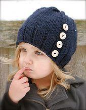 Strick PATTERN-The Hudson Hut Kleinkind Kind von Thevelvetacorn hat pattern free easy child Knitting PATTERN-The Hudson Hat (Toddler, Child, Adult sizes) Knitting For Kids, Loom Knitting, Knitting Projects, Baby Knitting, Crochet Projects, Knit Or Crochet, Crochet Baby, Velvet Acorn, Knitting Patterns