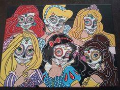 deviantART: More Like Disney Princess Sugar Skulls 2 by KITTYOG