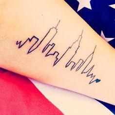 realistic new york skyline silhouette , click now. New York Tattoo, Nyc Tattoo, City Tattoo, Get A Tattoo, Wrist Tattoos For Guys, Small Wrist Tattoos, Nyc Skyline Tattoo, Body Art Tattoos, Cool Tattoos
