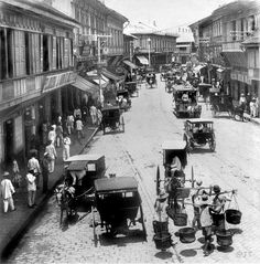 Escolta, the principal business street in Manila, Philippines, c1901