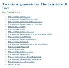Twenty Arguments For The Existence Of God by Peter Kreeft