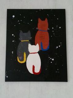katten in de nacht/ Cats in the Night by Cocky van Basten