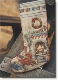 Home for Christmas Counted Cross Stitch Stocking Return to Counted Cross Stitch
