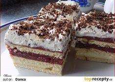 Sušenkové řezy zase trochu jiné recept - TopRecepty.cz Tiramisu, Cheesecake, Treats, Baking, Ethnic Recipes, Sweet, Sweet Like Candy, Bread Making, Patisserie