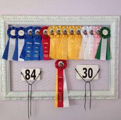 Cork board and ribbons
