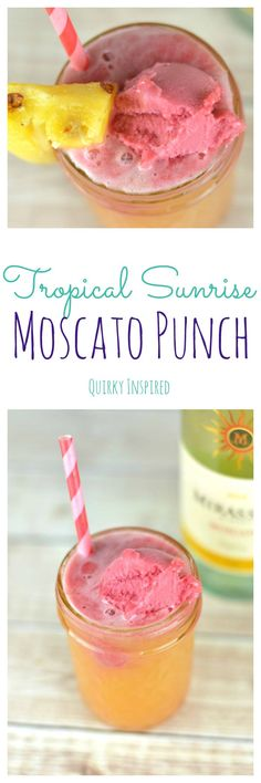 Moscato punch recipe here you come. This is the best moscato punch because it brings the tropical breezes to you without you having to hop on a plane!