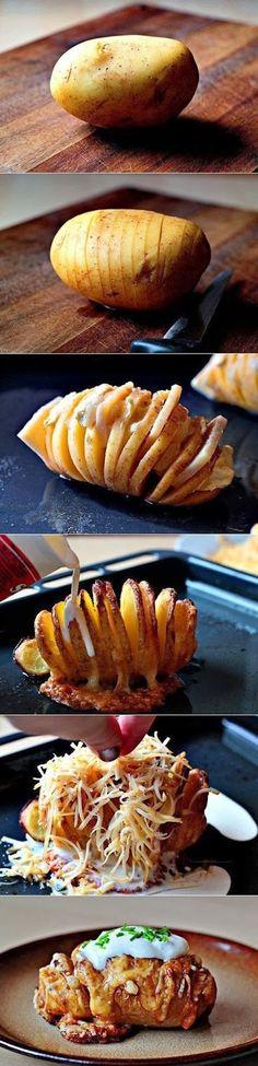 Überbackene Kartoffeln