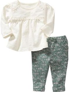 Lace Tee and Leggings Set for Baby