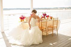 Gorgeous wedding dress | Amanda Hedgepeth Photography | http://burnettsboards.com/2013/11/classic-modern-hampton-roads-wedding/