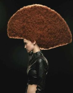 Netted Faces & Mollusk Hair - 'Big Hair' by Saima Altunkaya Features Avant-Garde Styles (GALLERY)