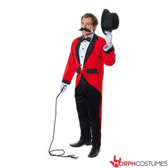 Mens fancy dress costume inspiration: Like to crack the whip? Want to be the leader of your next fancy dress party? If that sounds like you then this Ring Master Fancy Dress Costume is a necessity if you really want to look the part.