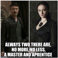 Seriously wish he would move on!! Creeps me out. Are girls not allowed boys their own age or must they always be forced to diddle the middle-aged bastards? Which brings me to my next point, him telling her she's the Lady of Winterfell, which she is, but that no one will follow Jon because he is a bastard, he has no claim. When will she stand up for him when people say crap like that & not just when seeking help w/wars: Really makes me distrustful of her.