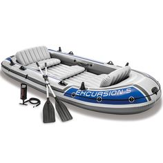 Buy Intex Excursion Inflatable Boat Set with Aluminum Oars and High Output Air Pump (Latest Model) big discount! Only 10 days. Get your Intex Excursion Inflatable Boat Set with Aluminum Oars and High Output Air Pump (Latest Model) now! Fishing Rod, Fishing Boats, Fishing Tips, Arctic Monkeys, Dinghy Boat, Kayak Storage, Inflatable Kayak, Excursion, Fishing Supplies