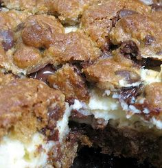 Chocolate Chip cream cheese bars!