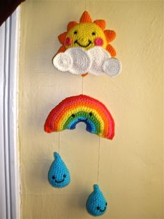 Mobile (from Crochet Today magazine) by @Jessica Behr.  Best baby shower present ever!