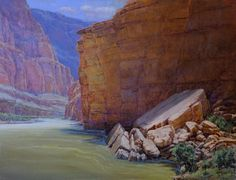 "Amery Bohling ""Through the Great Colorado"" 30"" x 40"" Oil on Board"