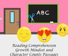 Growth mindset and character-building meet reading comprehension in these digital or printable task cards. Great for back to school to encourage a positive classroom environment and to work on passages that include a variety of reading passages. These passages work on main ideas, inferences, predic...