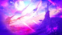 Circle by ryky on DeviantArt Fantasy Art Landscapes, Fantasy Landscape, Fantasy Artwork, Girl Cartoon Characters, Galaxy Art, Galaxy Nexus, Beautiful Fantasy Art, Galaxy Wallpaper, Book Wallpaper